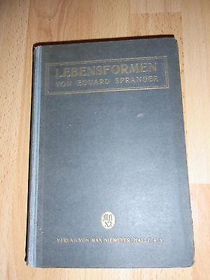 Buch Lebensformen von Eduard Spranger 1922