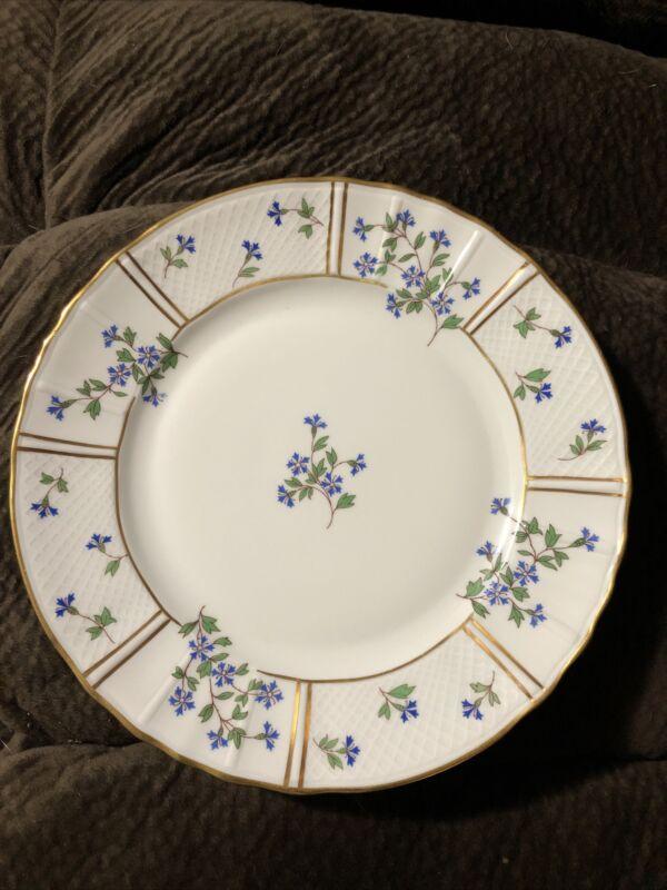 "10 1/4"" BERNARDAUD Limoges France BLEUETS Porcelain Dinner Plate"