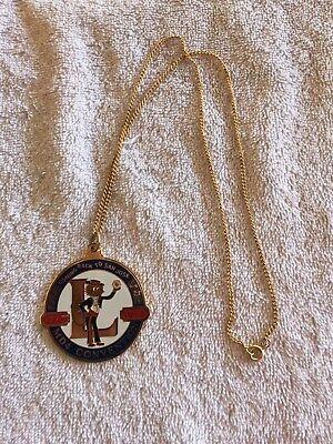 Lions Club Medallion PENDANT NECKLACE CONVENTION 1777 - 1977 San Jose CA.