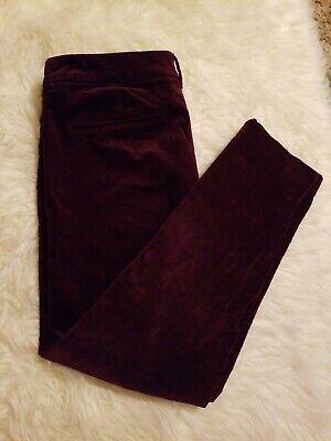 Pattern Old Navy Pixie Women's 12 Mid Rise Flat Front Pants Black Velvet Floral