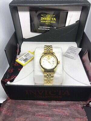 Invicta Specialty 32136 Unisex 36mm Gold Tone S/Steel Watch NWT