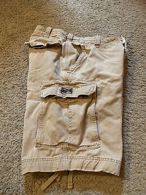 Men's Abercrombie And Fitch Khaki Cargo Shorts Size 32