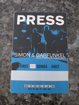 SIMON & GARFUNKEL - OLD FRIENDS TOUR 2003 TOUR - PRESS BACKSTAGE PASS
