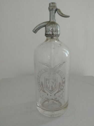 Vintage Glass Seltzer Bottle  Siphon from WM.Friedman
