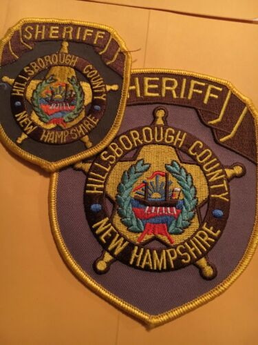 Hillsborough County Sheriff New Hampshire Vintage Police Patch set