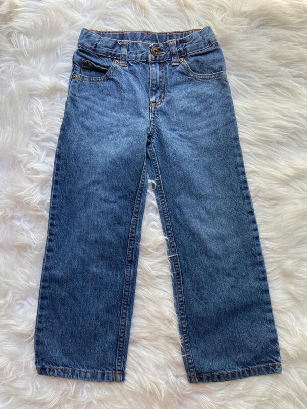 EUC 💙 CARTER'S Boys Size 5 Straight Classic Blue Denim Jeans w Adjustable Waist