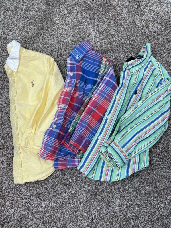 Ralph Lauren Polo Long Sleeve Button Up Shirts, Size 24 Months