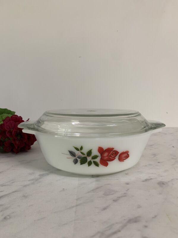 Vintage Pyrex Jaj June Rose Casserole And Lid 509