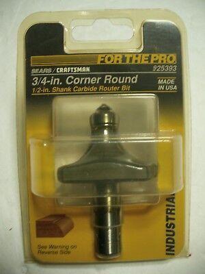 Craftsman 925393 Corner Round 34 Inch Radius 12 Shank Carbide Router Bit