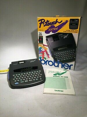 Brother P-touch Pt-320 Label Thermal Printer W Tape Working In Original Box
