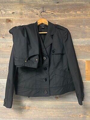Ellen Tracy 2 Piece Classic Black Pant Suit Size 12P Career Free Shipping