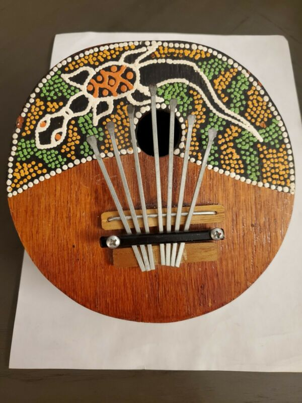 Collectable musical instrument Kalimba Thumb Piano 7 k Tunable Coconut Shell