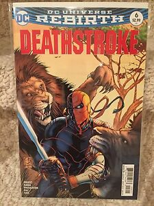 Deathstroke #6 Variant cover (Rebirth)