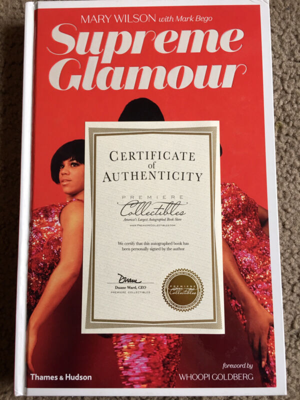 Mary Wilson SIGNED BOOK Supreme Glamour 1ST EDITION Hardcover Supremes Autograph