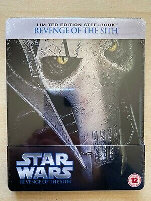 Star Wars: Revenge Of The Sith Blu-Ray Steelbook. New. Sealed