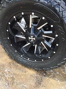 20x10 Cali off road rims with amp tires