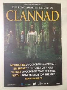 CLANNAD-Australian-Tour-Poster-2013-A2-ENYA-Past-Present-Banba-Macalla-U2-NEW