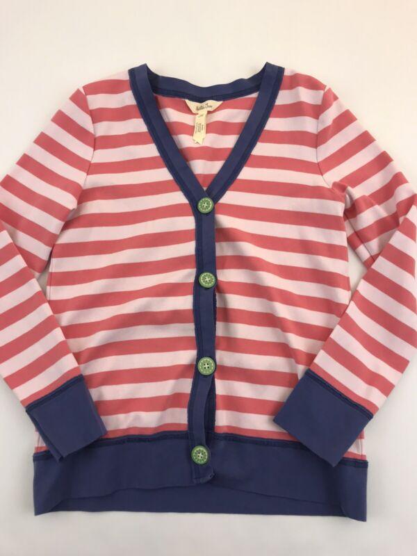 Matilda Jane Clothing Go Marching Cardigan Pink Striped Size 10