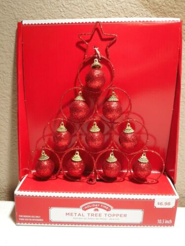 Christmas Holiday Medal Tree Topper Holiday Time 10.5 inch
