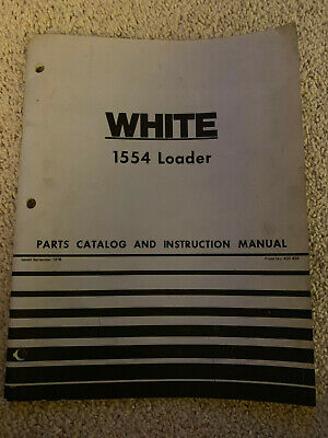 Oliver White 1554 Loader Parts Catalog Instruction Manual 1976