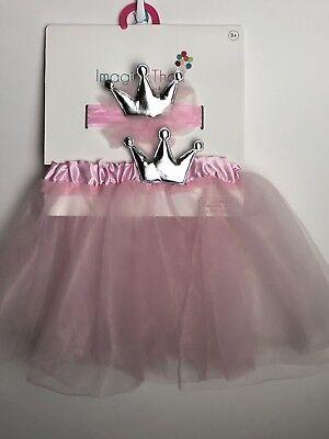 Girls Toddler Pink Tutu Crown Headband Halloween Costume Photo Shoot Dress - Toddler Costume Girl