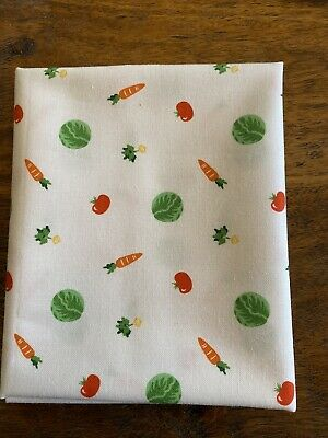 Fat Quarter Little Vegetables On White Garden Print Cotton Quilting Fabric Little White Lights