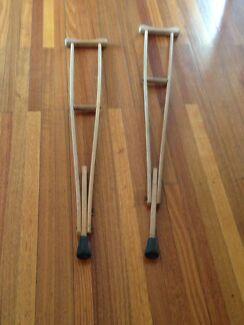 Retro vintage crutches