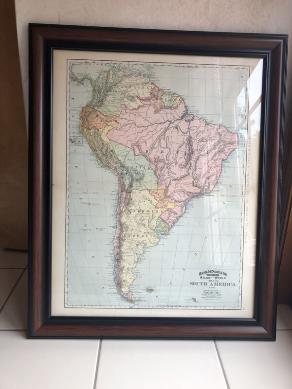 Rand Mcnally & Company 1897 South America Map