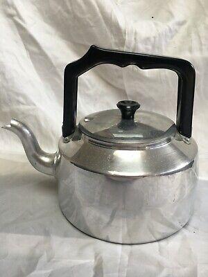 Vintage 1970's era unused old stock Stove cooker Top Tea Kettle Aluminium
