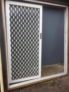 White aluminium sliding door Casula Liverpool Area Preview