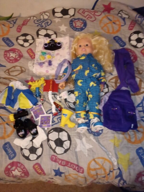 """AMAZING ALLY 18"""" interactive doll with accessories working pre-owned condition."""
