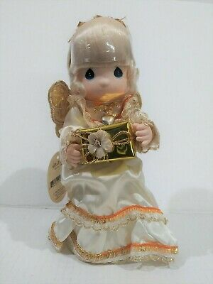 Precious Moments Vintage 1990s Christmas Angel Tree Topper, Girl Figurine