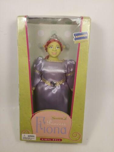 NOS Shrek 2 Fiona Vinyl Doll Blockbuster Exclusive 2004 Dreamworks NRFB