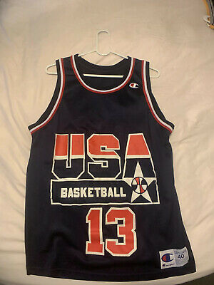 Champion Vintage Team USA Basketball Jersey Shaq O'Neal Men's Sz 40 S 1994 NBA