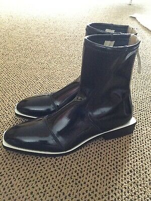FENDI Black Patent Ankle Boots - NEW with Tags Size 39. **FREE SHIPPING