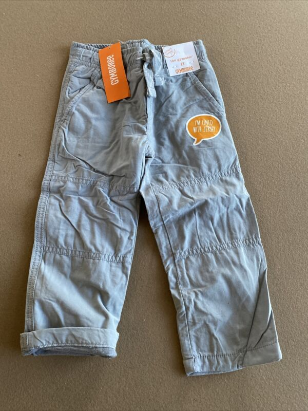 Gymboree The Gymster Pants Grey Jersey Lined