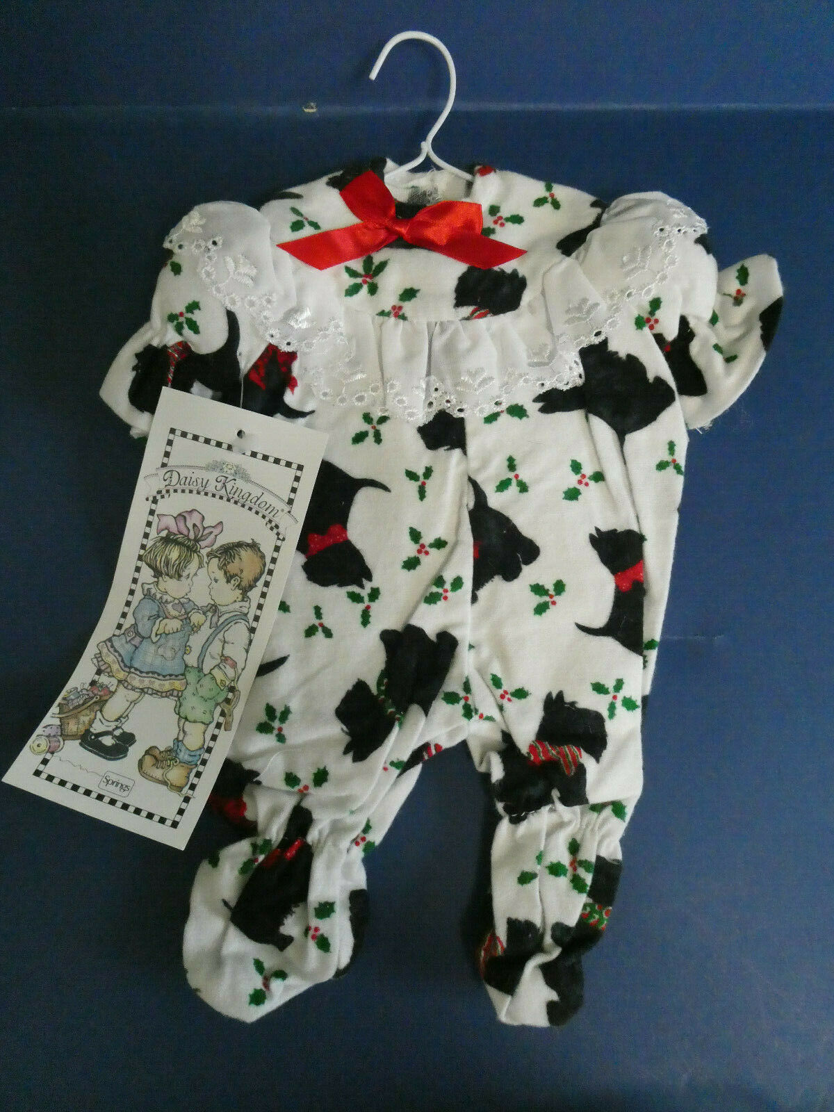 BRAND NEW DAISY KINGDOM FLANNEL FOOTED SCOTTY PJ S 5052-01260-FITS 12 DOLL 2 - $17.99