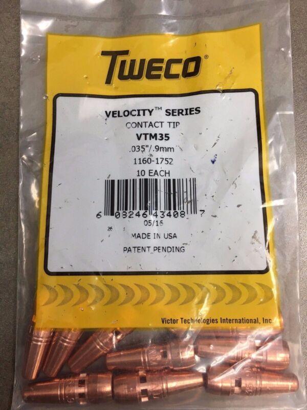Tweco Velocity Contact Tips VTM35 1160-1752 .035 .9MM (10 pack) MIG Welding