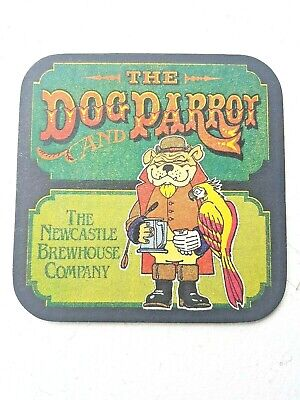 Vintage NEWCASTLE BREWHOUSE CO - THE DOG & PARROT Cat No'?? Beermat / Coaster