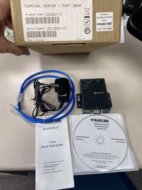 NEW IN BOX BLACK BOX TERMINAL SERVER 1 Port DB9M LES4011A