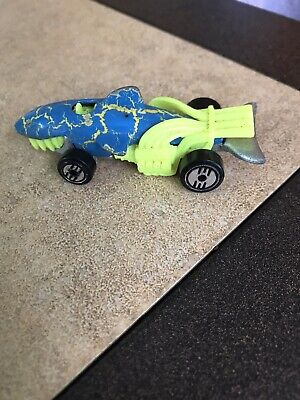 Hot Wheels Vintage 1986 Shark Car Hot Rod Blue & Neon Yellow Loose Diecast Car
