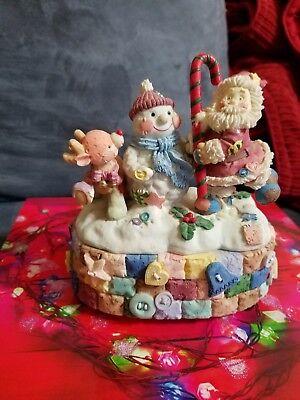 Sankyo Wind Up Music Box Musical santa, raindeer, snowman -Plays