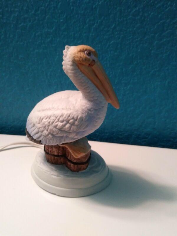 Pelican night light porcelain figurine