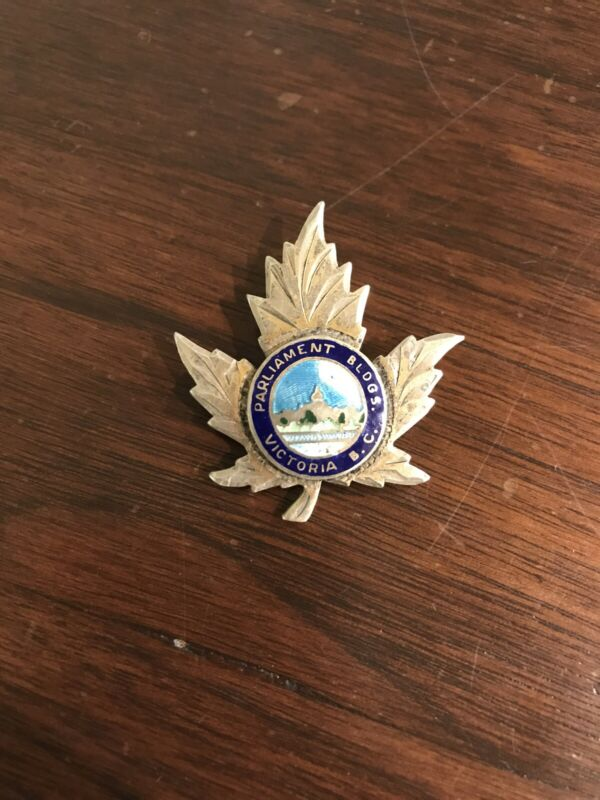 Parliament Buildings Victoria B. C. Sterling Silver Pin