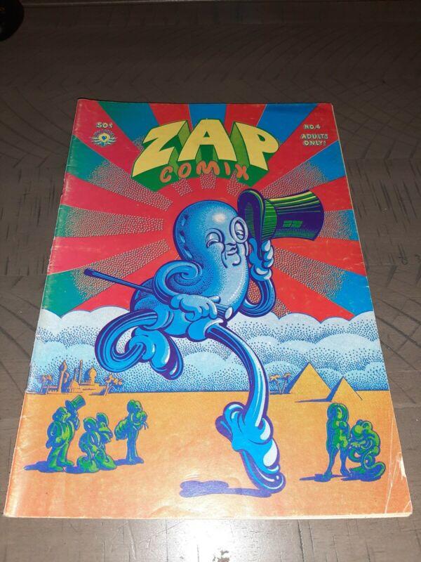 ZAP COMIX #4 2nd Print Nice Copy Apex Novelties  Crumb Wilson Williams Shelton