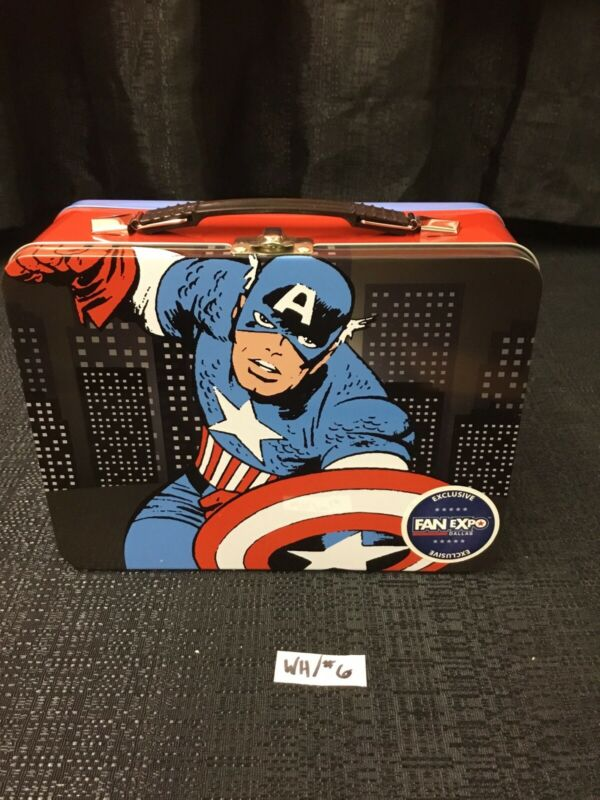 Marvel Captain America Fan Expo Dallas Exclusive Metal Lunchbox