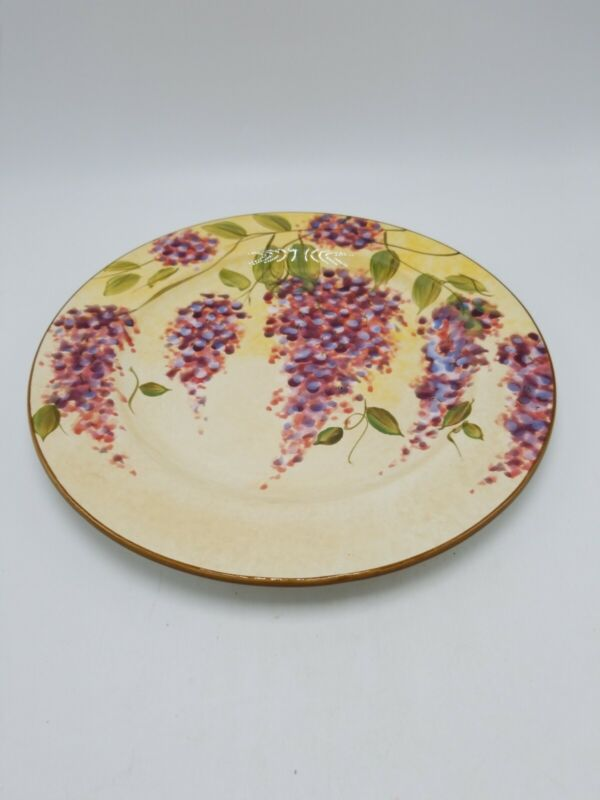 """Heritage Mint """"Wisteria"""" Dinner Plate - 11 Inch (Mint Condition)"""
