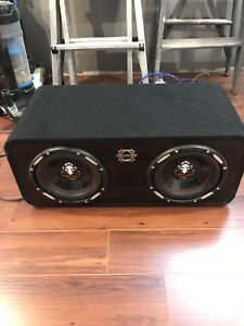 """2 10"""" Subwoofers with box"""