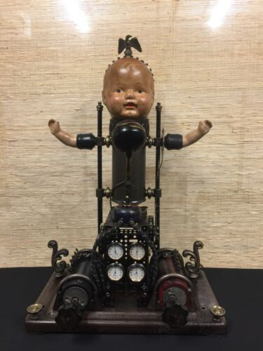 """Vintage Industrial Assemblage Art, """"News Machine"""" by Lauryn Rodgers"""
