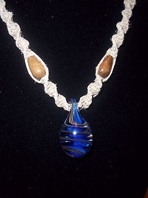 New Hand Crafted Hemp Necklace with